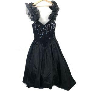 Loralie Original Vintage 80s Formal Dress Black